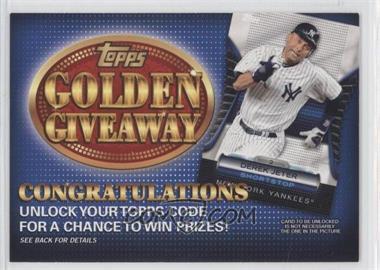 2012 Topps - Golden Giveaway Code Cards #GGC-19 - Derek Jeter