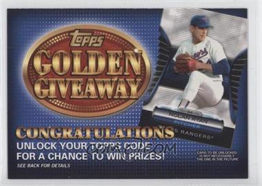 2012 Topps - Golden Giveaway Code Cards #GGC-22 - Nolan Ryan