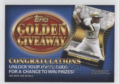 2012 Topps - Golden Giveaway Code Cards #GGC-8 - Roberto Clemente