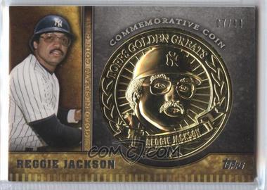 2012 Topps - Golden Greats Coin Cards #GGC-RJ - Reggie Jackson /44