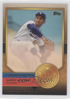 2012 Topps - Golden Greats #GG-48 - Sandy Koufax