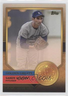 2012 Topps - Golden Greats #GG-49 - Sandy Koufax