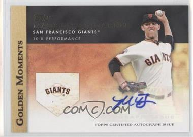 2012 Topps - Golden Moments Certified Autographs #MABU - Madison Bumgarner