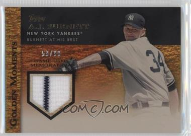 2012 Topps - Golden Moments Game-Used Memorabilia - Gold #GMR-AB - A.J. Burnett /99
