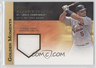 2012 Topps - Golden Moments Game-Used Memorabilia #GMR-AP.1 - Albert Pujols (Both Hands on Bat)