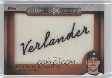 2012 Topps - Manufactured Historical Stitches #HS-JV - Justin Verlander