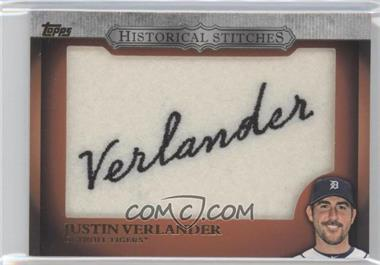 2012 Topps - Manufactured Historical Stitches #HS-JV - Justin Verlander