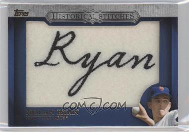 2012 Topps - Manufactured Historical Stitches #HS-NR - Nolan Ryan