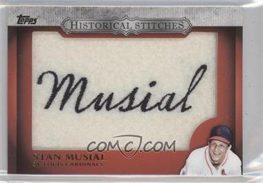 2012 Topps - Manufactured Historical Stitches #HS-SM - Stan Musial