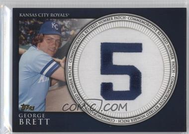 2012 Topps - Manufactured Retired Number Patch #RN-GB - George Brett