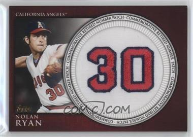 2012 Topps - Manufactured Retired Number Patch #RN-NR - Nolan Ryan