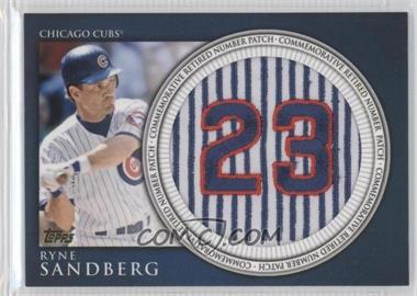 2012 Topps - Manufactured Retired Number Patch #RN-RS - Ryne Sandberg