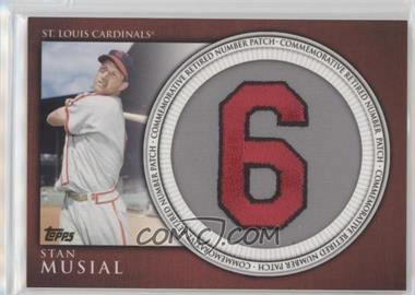 2012 Topps - Manufactured Retired Number Patch #RN-SM - Stan Musial
