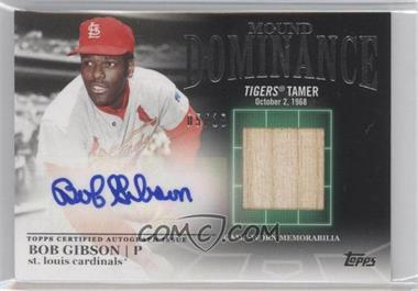 2012 Topps - Mound Dominance - Certified Autograph Relic [Autographed] #MDAR-BG - Bob Gibson /69