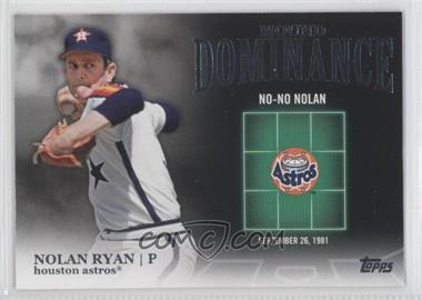 2012 Topps - Mound Dominance #MD-8 - Nolan Ryan