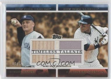 2012 Topps - Timeless Talents - Dual Relics #TTDR-MTT - Roger Maris, Curtis Granderson /50