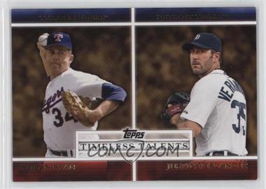 2012 Topps - Timeless Talents #TT-5 - Nolan Ryan, Justin Verlander