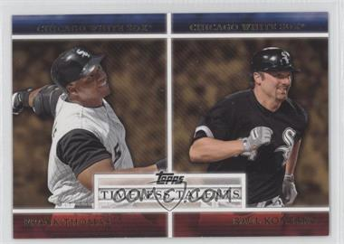 2012 Topps - Timeless Talents #TT-7 - Frank Thomas, Paul Konerko