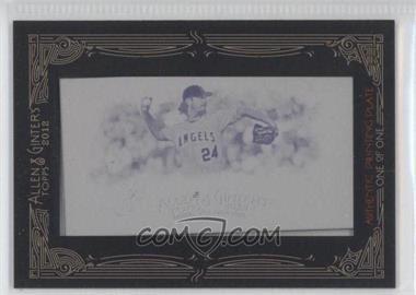 2012 Topps Allen & Ginter's - [Base] - Printing Plate Minis Magenta Framed #215 - Dan Haren /1
