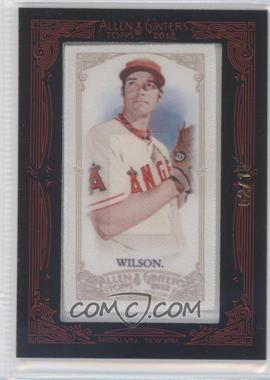 2012 Topps Allen & Ginter's - [Base] - Silk Mini Framed #N/A - C.J. Wilson /10