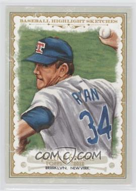 2012 Topps Allen & Ginter's - Baseball Highlight Sketches #BH-11 - Nolan Ryan