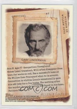 2012 Topps Allen & Ginter's - Code Cards #171 - Gary Linderman