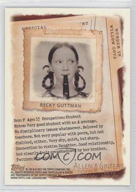 2012 Topps Allen & Ginter's - Code Cards #N/A - Becky Guttman