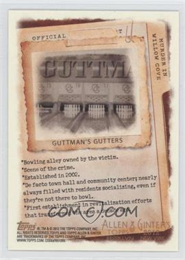 2012 Topps Allen & Ginter's - Code Cards #N/A - Guttman's Gutters