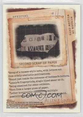 2012 Topps Allen & Ginter's - Code Cards #N/A - Second Scrap of Paper