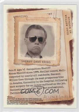 2012 Topps Allen & Ginter's - Code Cards #N/A - Sheriff Dave Kring