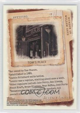 2012 Topps Allen & Ginter's - Code Cards #N/A - Tom's Place