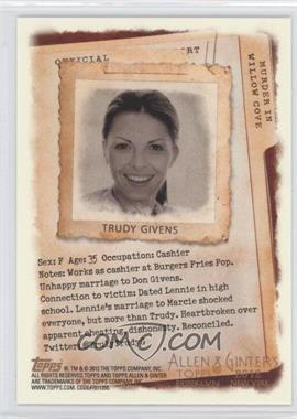 2012 Topps Allen & Ginter's - Code Cards #N/A - Trudy Givens