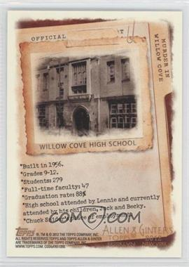 2012 Topps Allen & Ginter's - Code Cards #N/A - Willow Cove High School