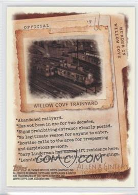 2012 Topps Allen & Ginter's - Code Cards #N/A - Willow Cove Trainyard