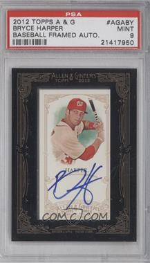 2012 Topps Allen & Ginter's - Framed Mini Autographs #AGA-BY - Bryce Harper [PSA 9]