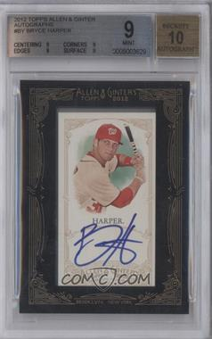 2012 Topps Allen & Ginter's - Framed Mini Autographs #AGA-BY - Bryce Harper [BGS 9]