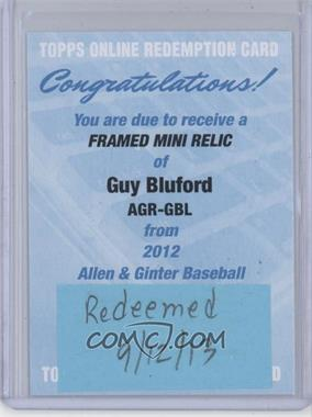 2012 Topps Allen & Ginter's - Framed Mini Relics #AGR-GBL - Guy Bluford [REDEMPTION Being Redeemed]