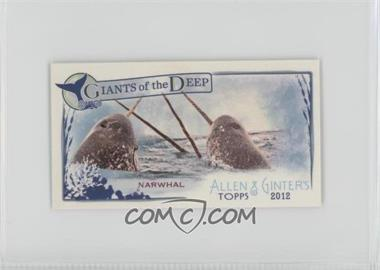 2012 Topps Allen & Ginter's - Giants of the Deep Minis #GD-4 - Narwhal