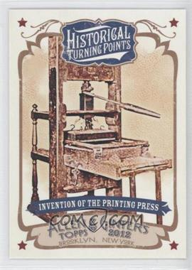 2012 Topps Allen & Ginter's - Historical Turning Points #HTP7 - Invention of the Printing Press