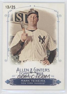 2012 Topps Allen & Ginter's - Rip Cards - Ripped #RC20 - Mark Teixeira /25