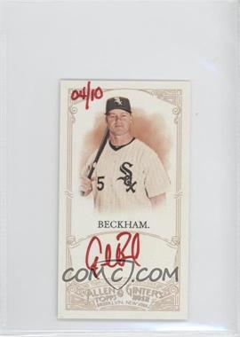 2012 Topps Allen & Ginter's - Unframed Mini Autographs - Red Ink [Autographed] #AGA-GB - Gordon Beckham /10
