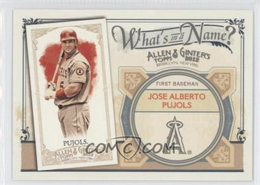 2012 Topps Allen & Ginter's - What's in a Name? #WIN84 - Albert Pujols