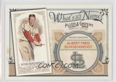 2012 Topps Allen & Ginter's - What's in a Name? #WIN9 - Red Schoendienst