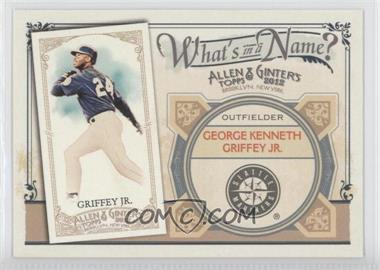 2012 Topps Allen & Ginter's - What's in a Name? #WIN95 - Ken Griffey Jr.
