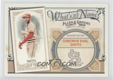 2012 Topps Allen & Ginter's - What's in a Name? #WIN96 - Ozzie Smith