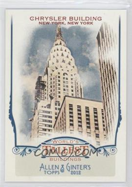 2012 Topps Allen & Ginter's - World's Tallest Buildings #WTB7 - Chrysler Building