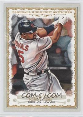 2012 Topps Allen & Ginter's Baseball Highlight Sketches #BH-10 - Albert Pujols