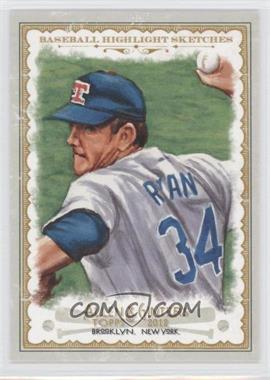 2012 Topps Allen & Ginter's Baseball Highlight Sketches #BH-11 - Nolan Ryan