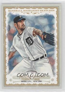 2012 Topps Allen & Ginter's Baseball Highlight Sketches #BH-12 - Justin Verlander