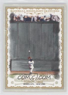 2012 Topps Allen & Ginter's Baseball Highlight Sketches #BH-21 - Willie Mays